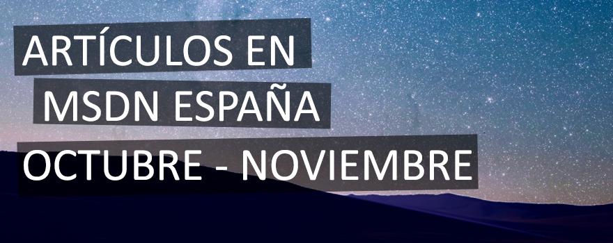 Resumen MSDN Octubre – Noviembre 2014