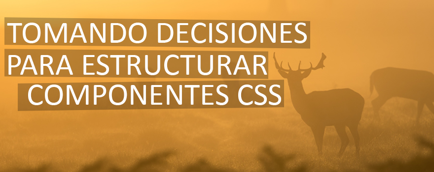 Tomando decisiones para estructurar los componentes en CSS